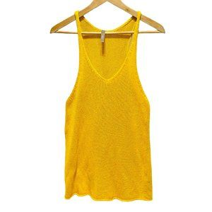Thyme Maternity Yellow Knit Slouchy Tank Top